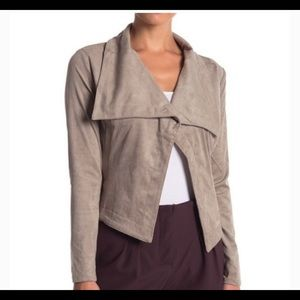 NWT Romeo+Juliet Couture Taupe Faux Suede Blazer M